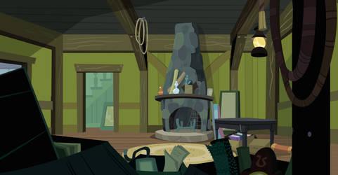 Inside Cranky's House (Customizable Vector)