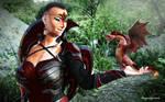 Dragon Queen Eve by rhayvenj