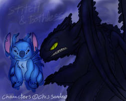 Stitch and Toothless by Mickeymonster