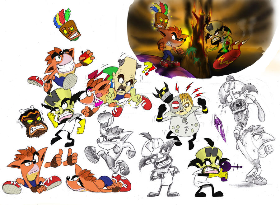 Crash Bandicootness Color by Mickeymonster