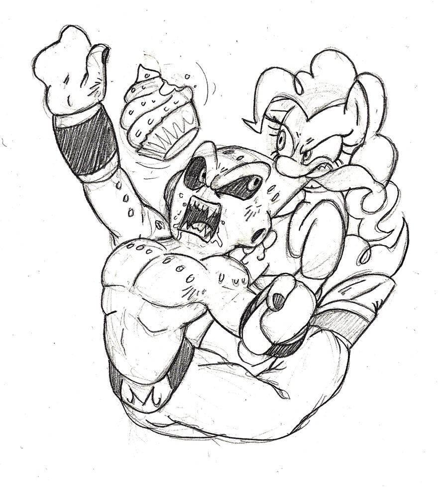 kid buu coloring pages - pinkie pie vs kid buu by mickeymonster on deviantart