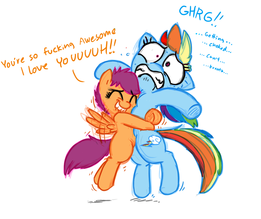 Scootalove Hurts by Mickeymonster