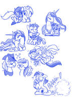 Sketches .:Comissions:. by Mickeymonster