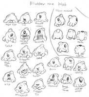 Flubber The Blob Studies by Mickeymonster