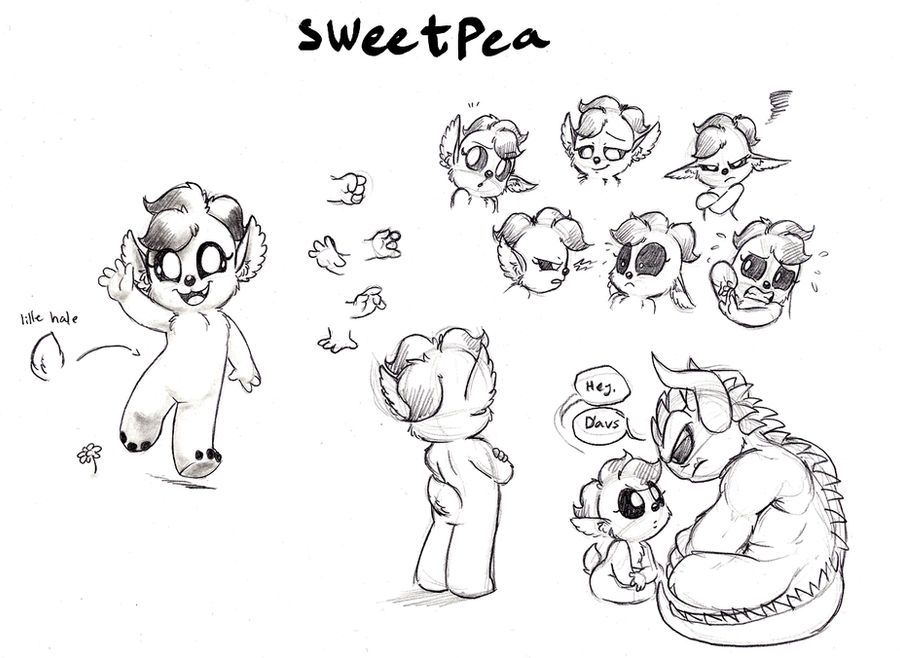 Sweetpea Character Study by Mickeymonster