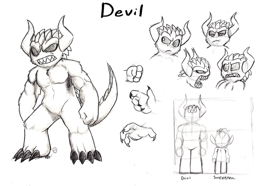 Devil Character study by Mickeymonster