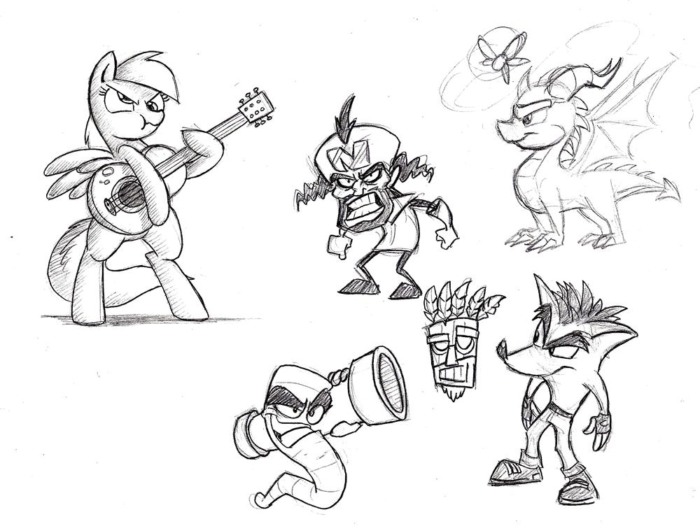 Nostalgic Doodles by Mickeymonster