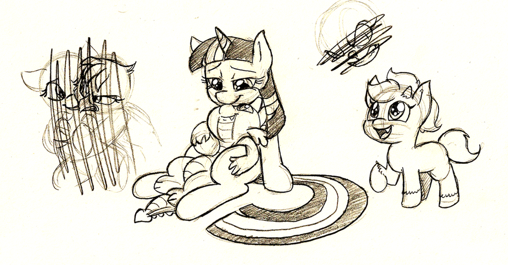 Pony doodles by Mickeymonster