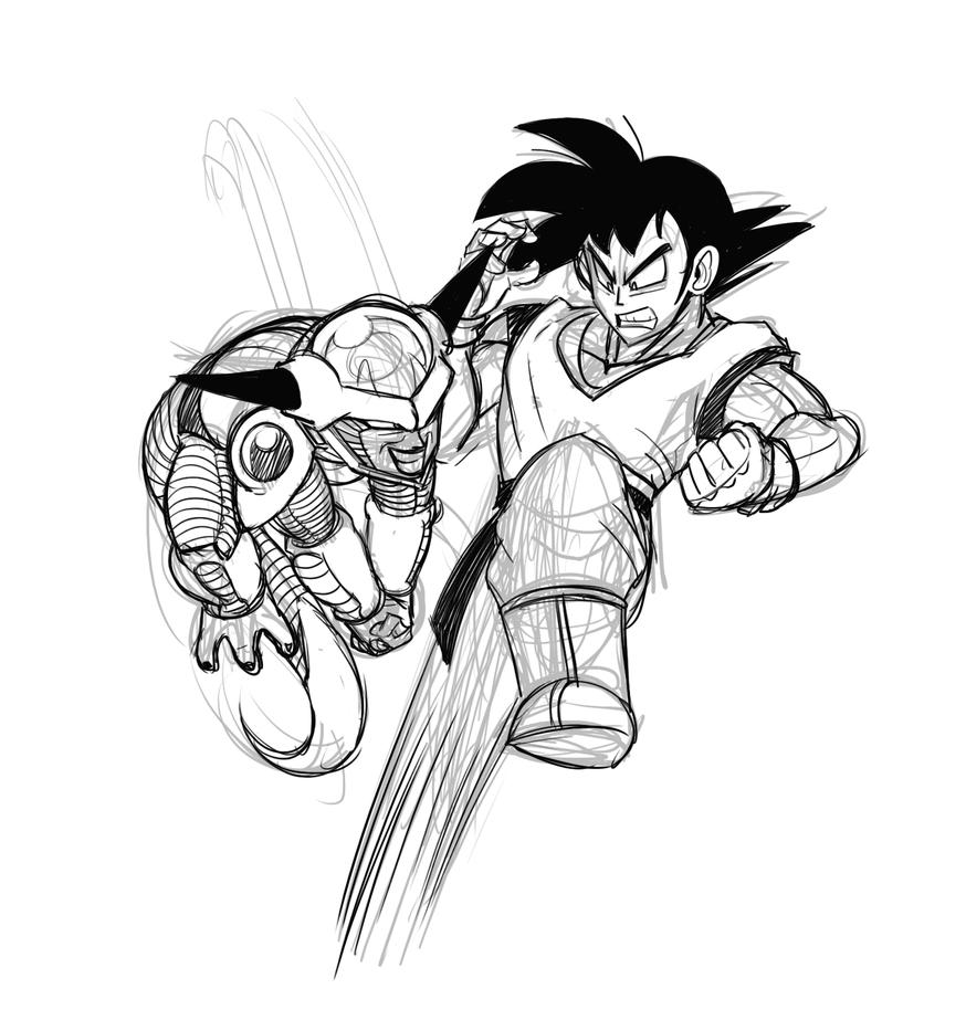 Goku VS Frieza by Mickeymonster