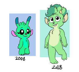 Sweetpea Before and After by Mickeymonster