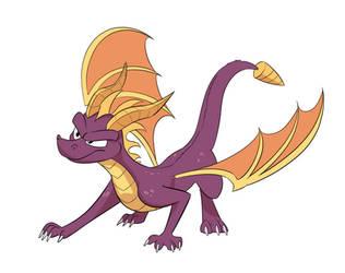 Purple Game Dragon by Mickeymonster