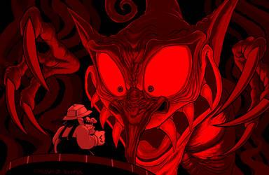 Wario VS Demon Head