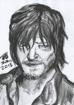 Daryl Dixon The Walking Dead Ink Painting
