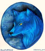 Blue Wolf by RavenDANIELS