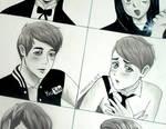 The many anime Dan personas