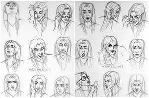 Facial expression study 1 and 2 by RavenDANIELS