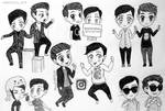A bunch of Dan and Phil chibis!