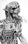 [Inktober] Day 16: Zombie Titan by RavenDANIELS