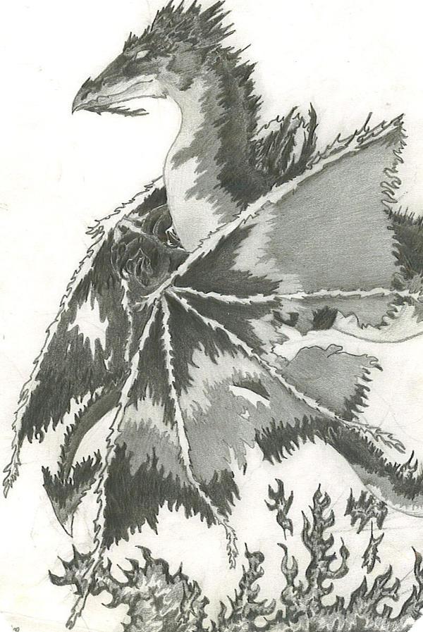 Black Flame Dragon by RavensLament