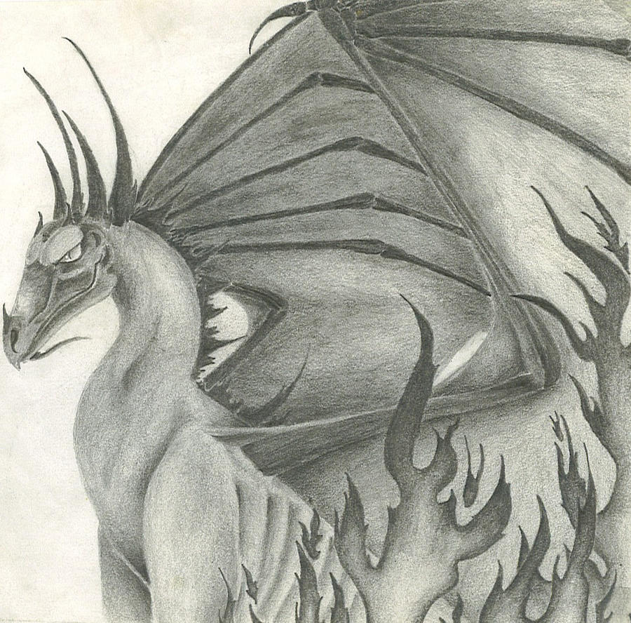 Hellfire Dragon by RavensLament