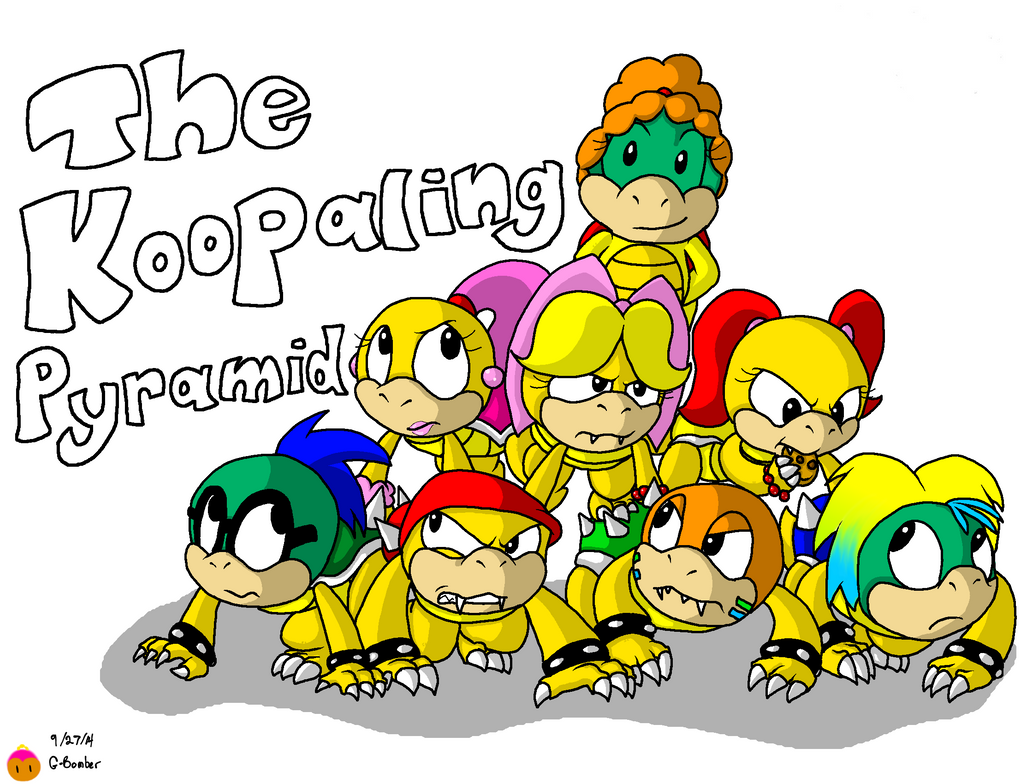 The Koopaling Pyramid by G-Bomber