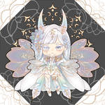 [CLOSED] Adoptable - Rainbow Glass Magnolia