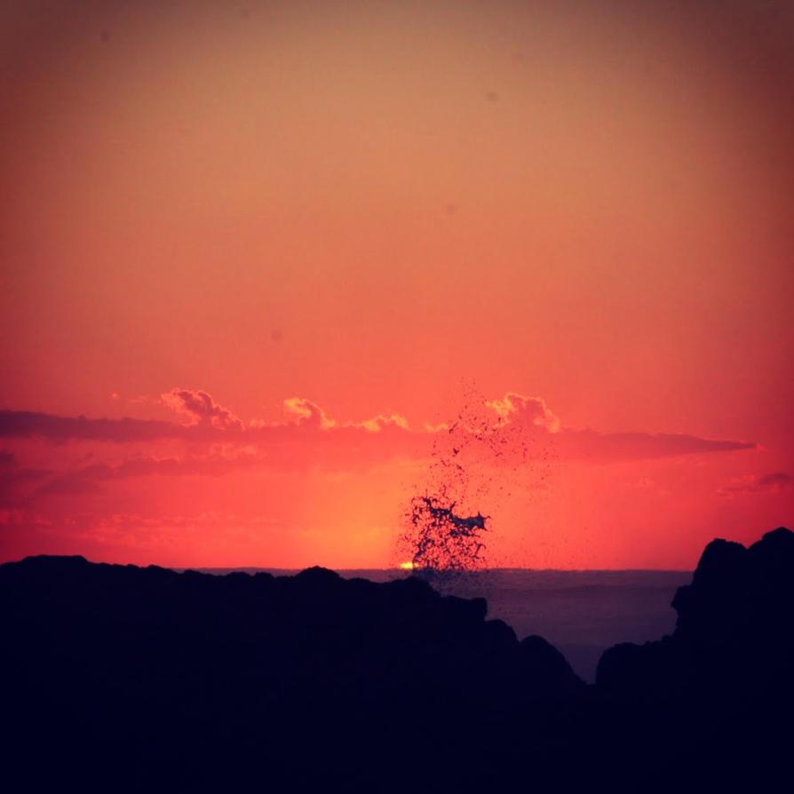 Splashing the Sunrise by brunette-from-oz
