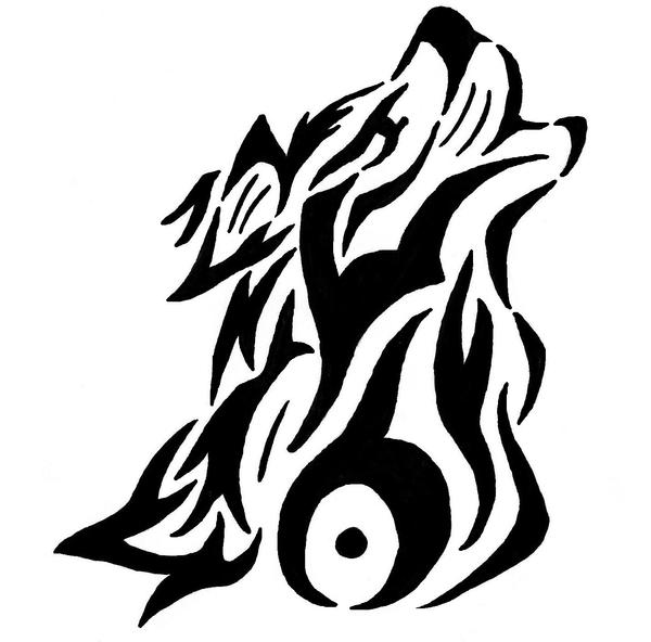 Wolf Howl Tribal Tattoo by YamiMetalerHam on DeviantArt