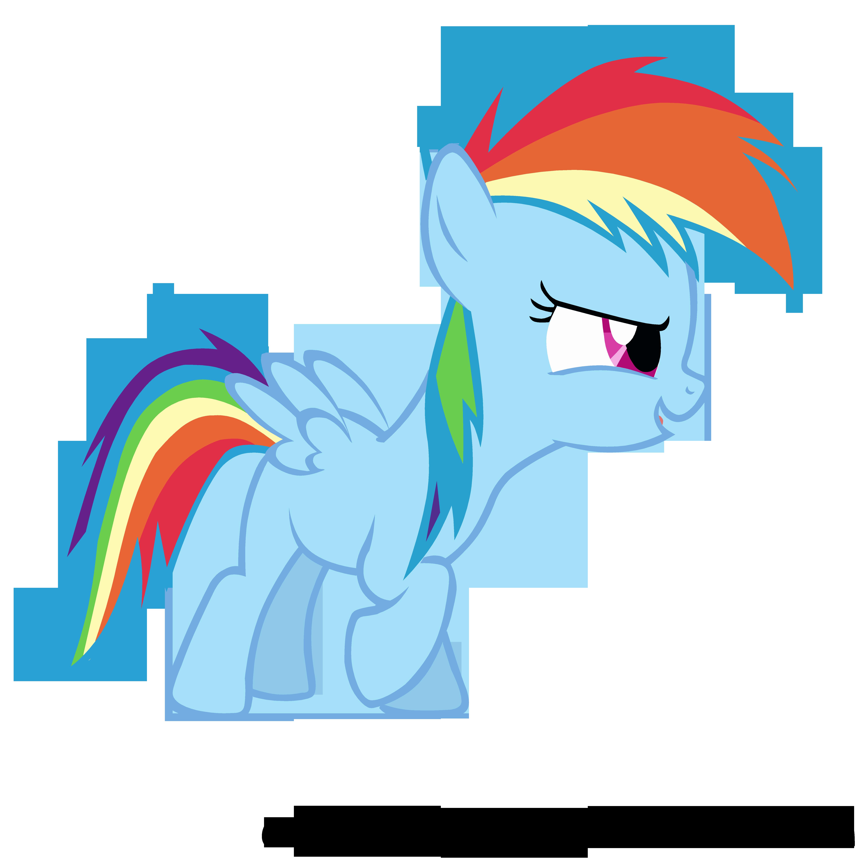 Filly Rainbow Dash Vector by FlipsideEquis on DeviantArt