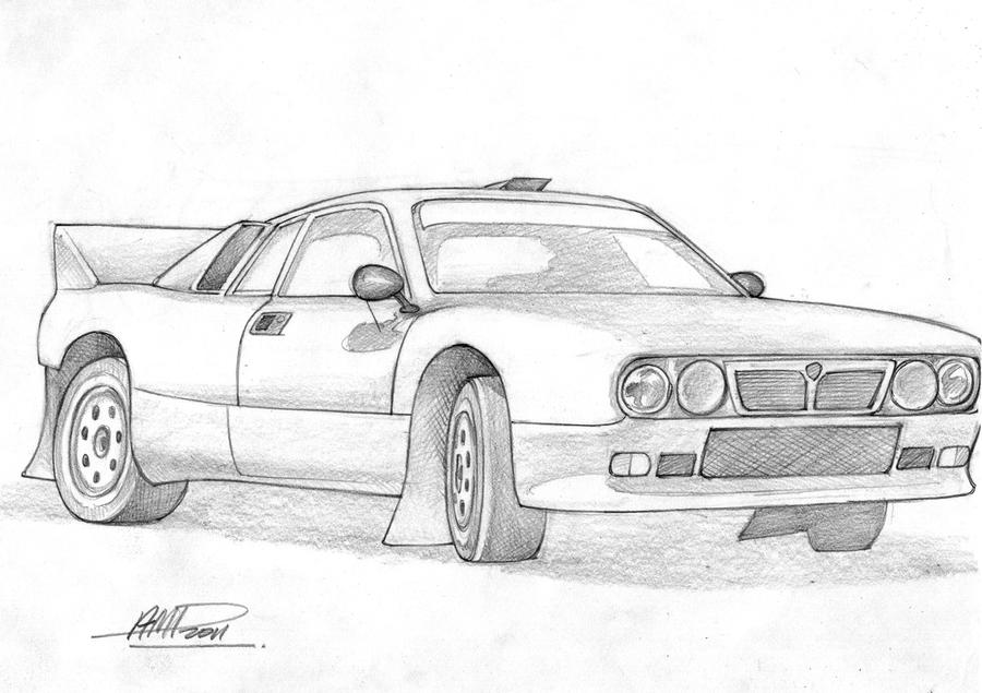 Rally car outline drawing 14