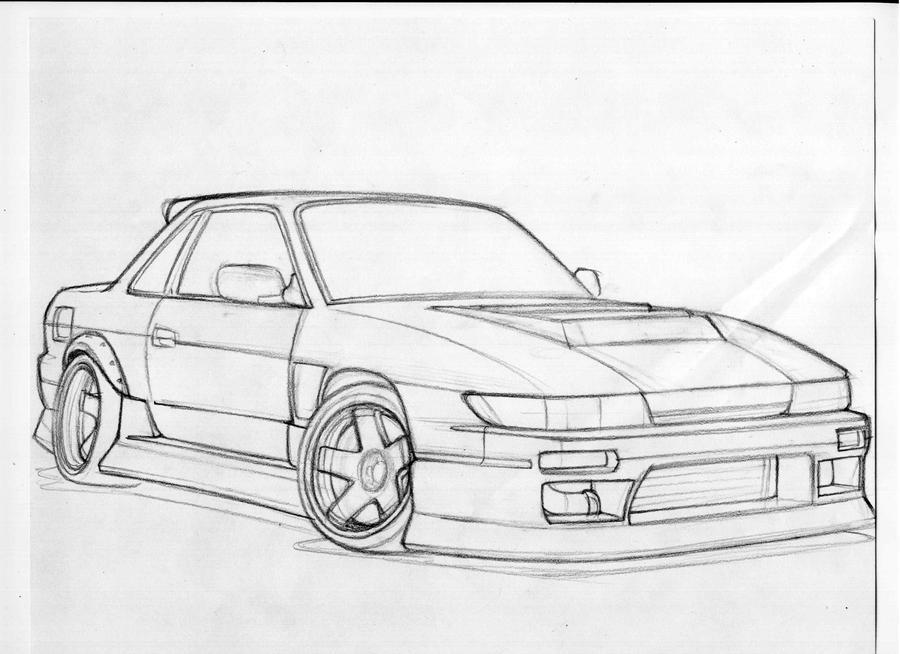 Nissan Silvia Drawing