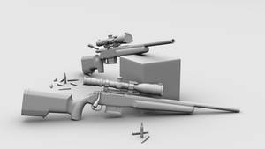 High-Poly sniper rifle 2/2