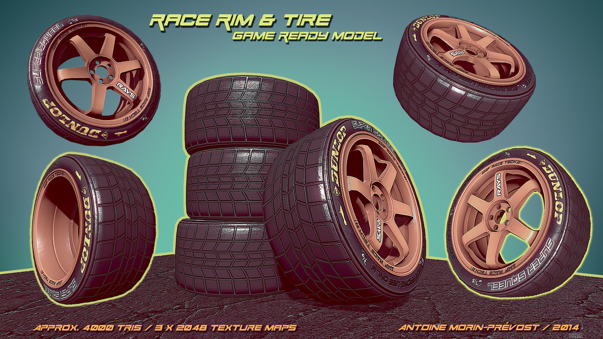 Race Rim and Tire by WriteNRun
