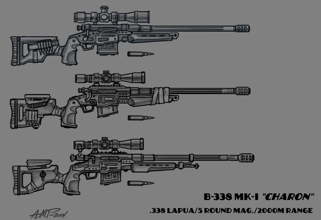 .338 Sniper Rifle - Fallout New Vegas mod project by WriteNRun