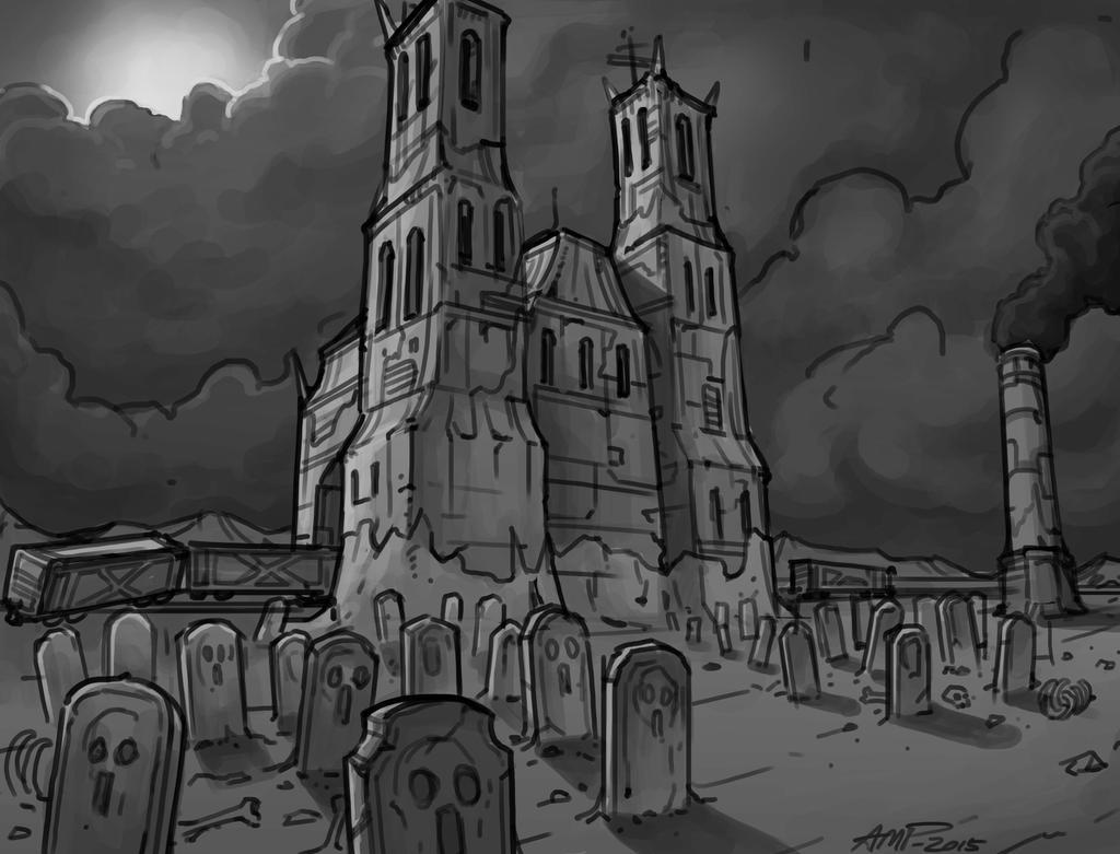 Dark cathedral by WriteNRun