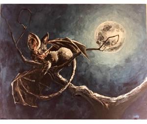 Bat and Moon by YanaIgorevnaa