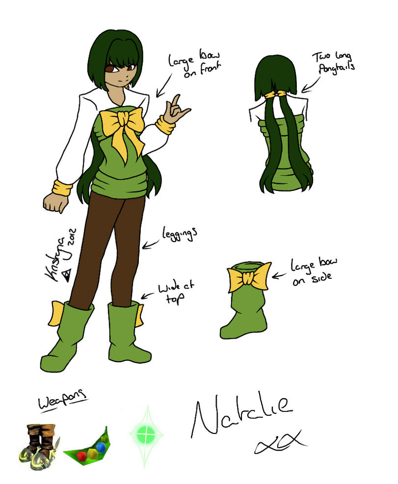 Natalie Character Sheet by RiverTyna