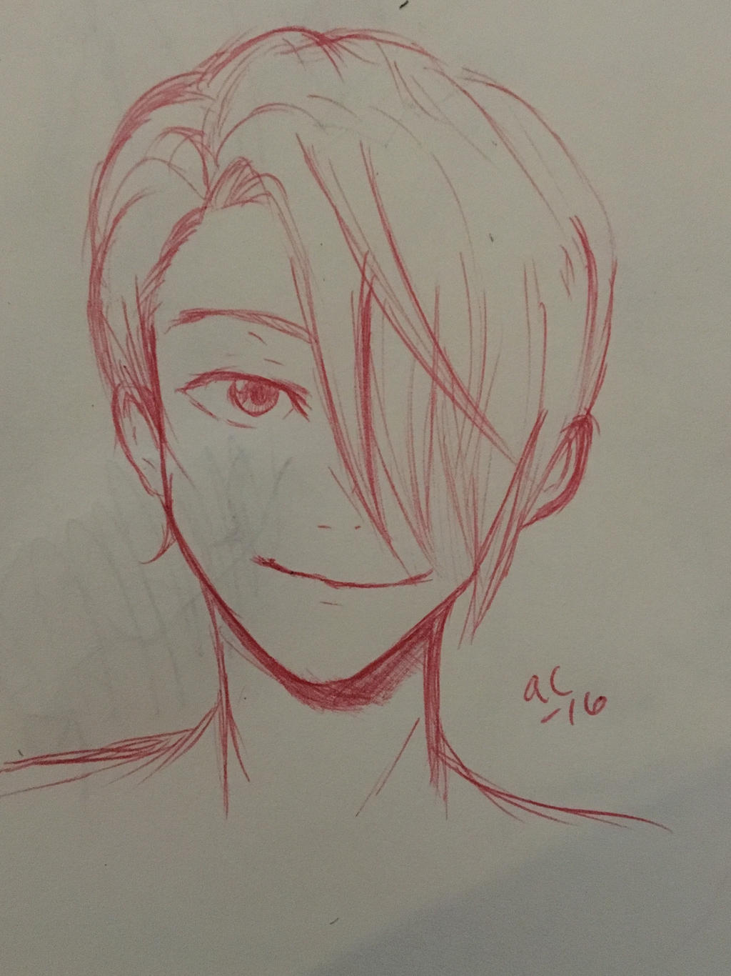 Inktober 21 Victor Yuri on Ice  by Ailizerbee08