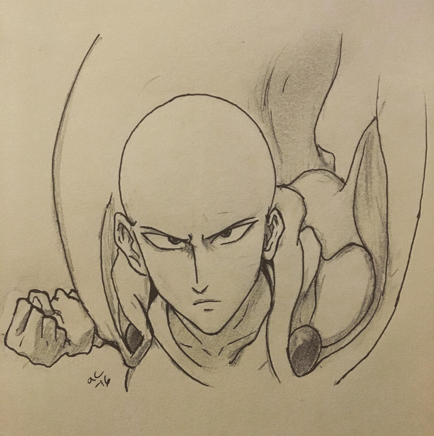 Inktober Day 27 One Punch Man  by Ailizerbee08