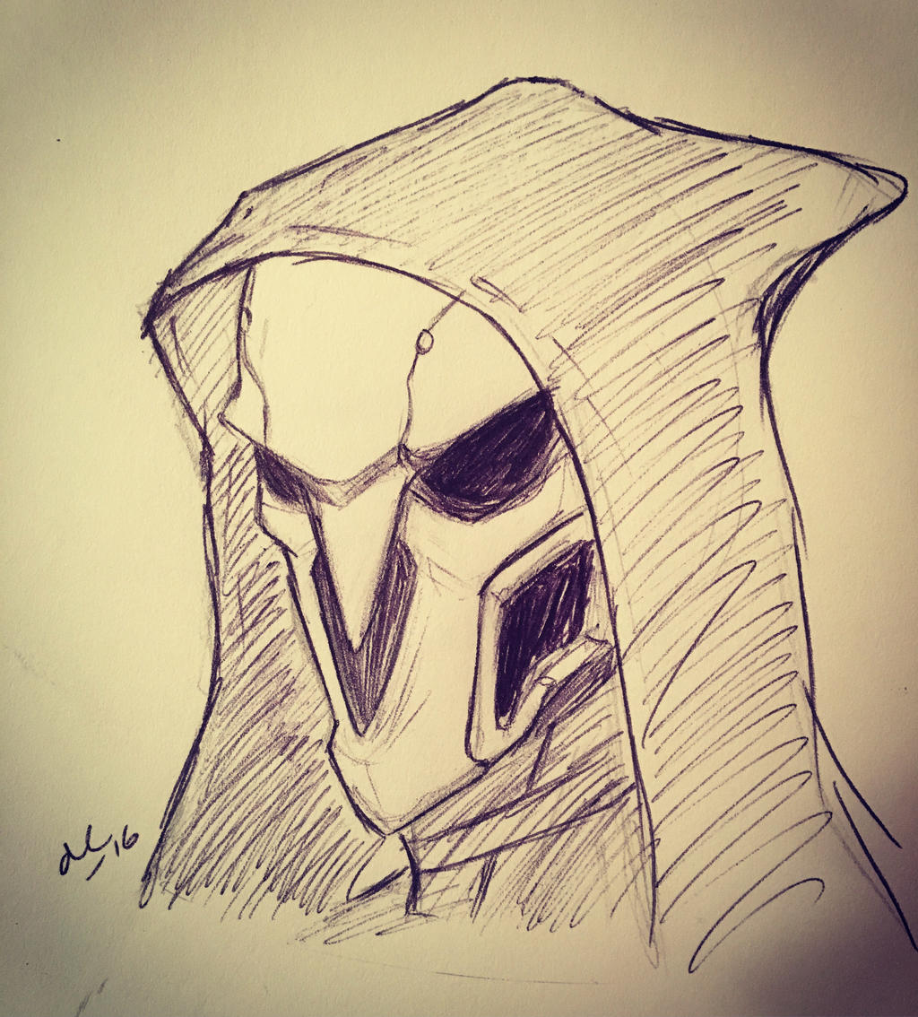 Inktober Day 31 Reaper : Overwatch by Ailizerbee08