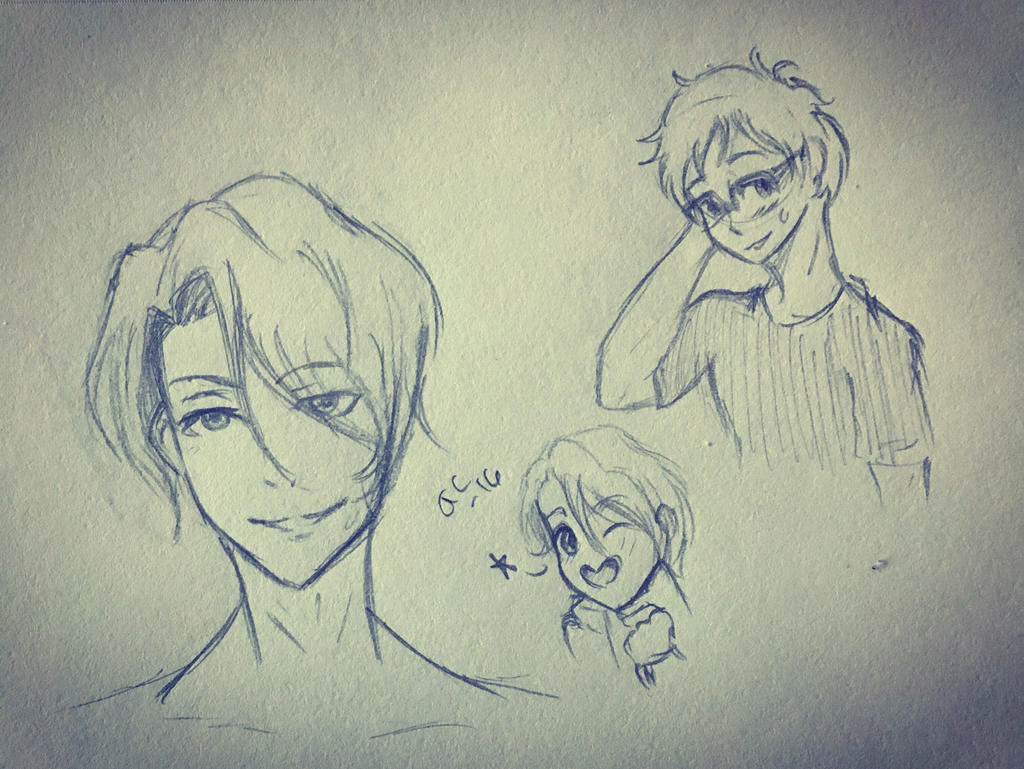 Yuri on ice Doodles  by Ailizerbee08