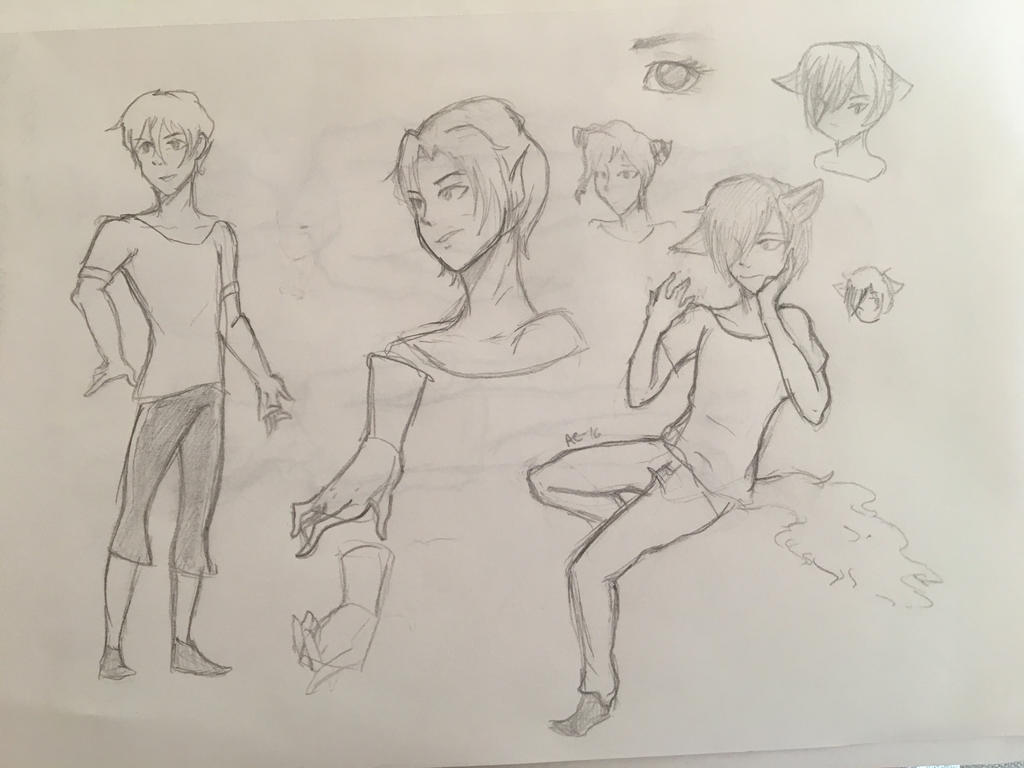 Sketch Dump by Ailizerbee08