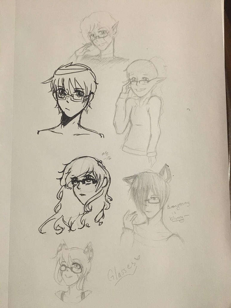 GLASSES  by Ailizerbee08