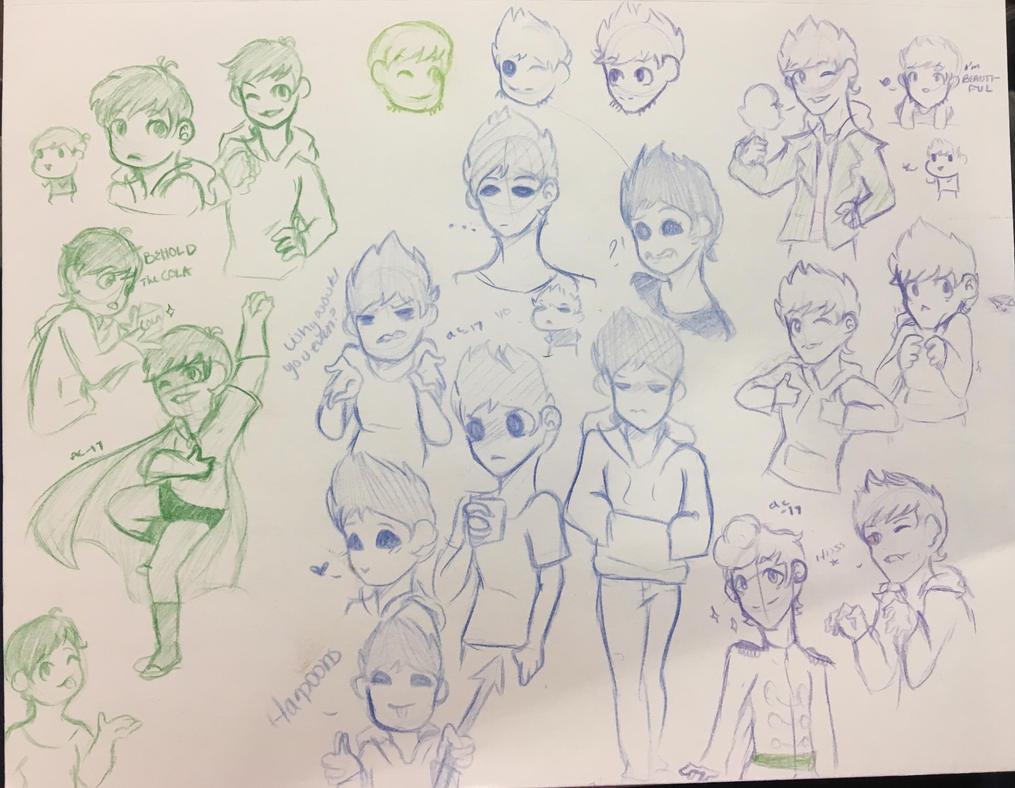 Edd,Tom,Matt Doodles  by Ailizerbee08