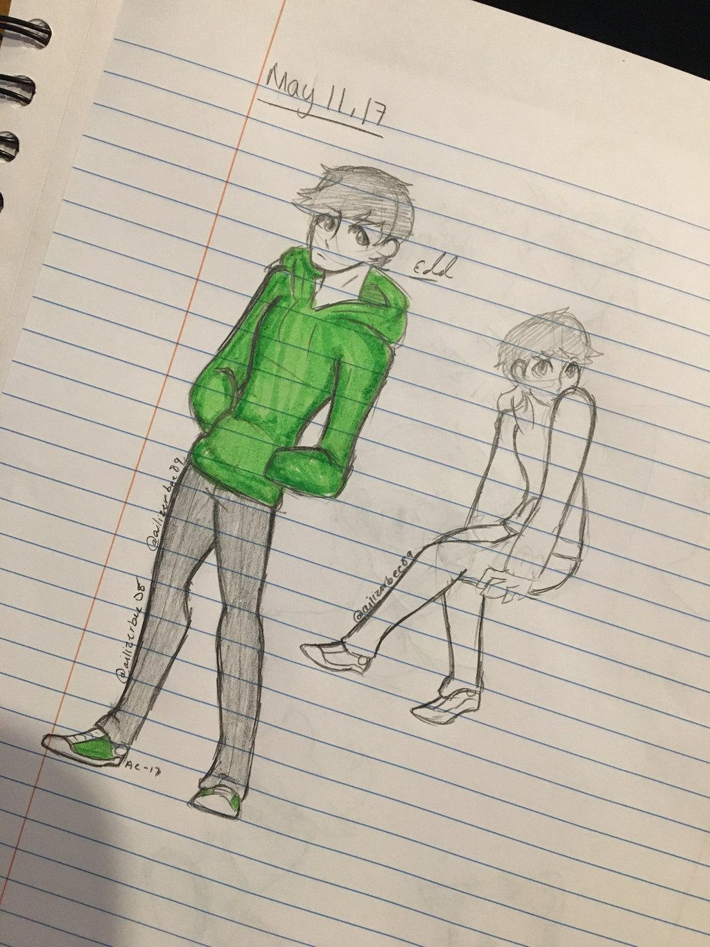 Edd School Doodle  by Ailizerbee08
