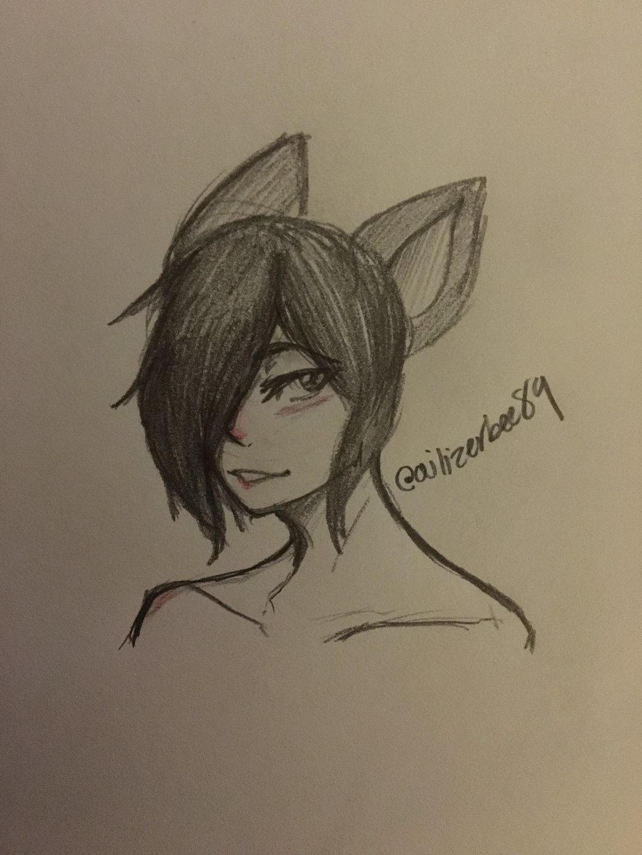 Wolfie Sketch  by Ailizerbee08