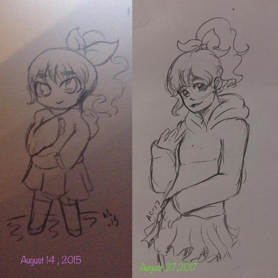 2 Year progress  by Ailizerbee08