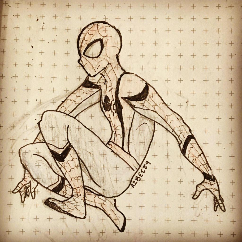 Inktober Day 27 SPIDER-MAN  by Ailizerbee08