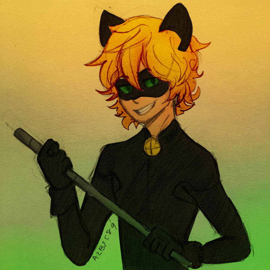 Chat Noir Colored  by Ailizerbee08