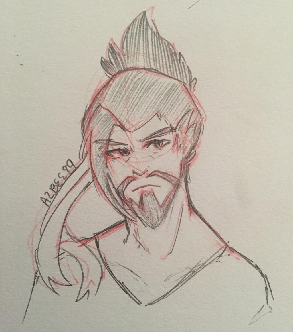 Hanzo Doodle  by Ailizerbee08